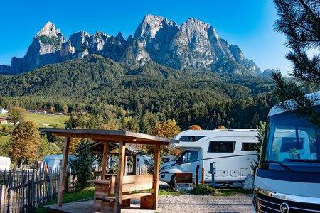 Komfortstellplatz Typ S Camping Seiser Alm