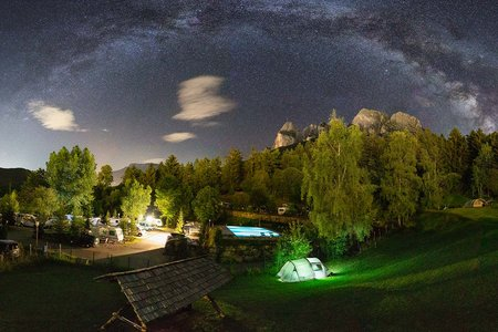 Zeltplatz Wiese Camping Seiser Alm